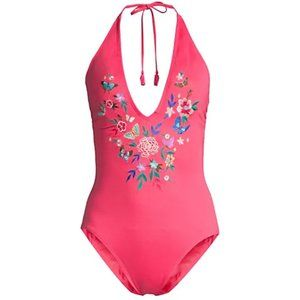 Johnny Was Mariposa One Piece Pink Small